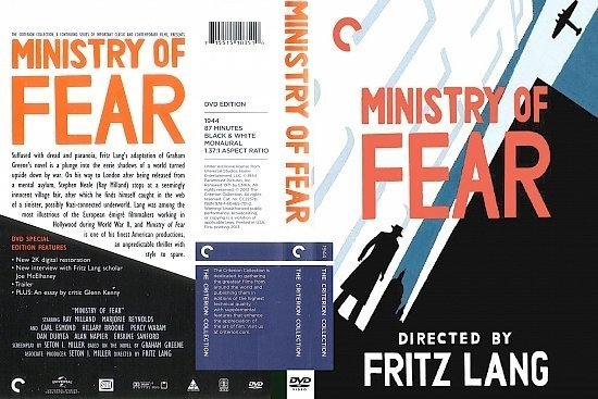 dvd cover Ministry of Fear (1944) R1