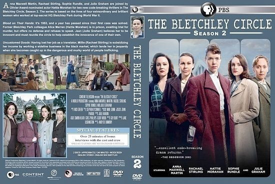 dvd cover The Bletchley Circle Season 2