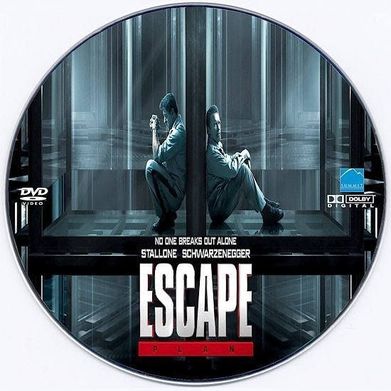 dvd cover Escape Plan Custom DVD Label
