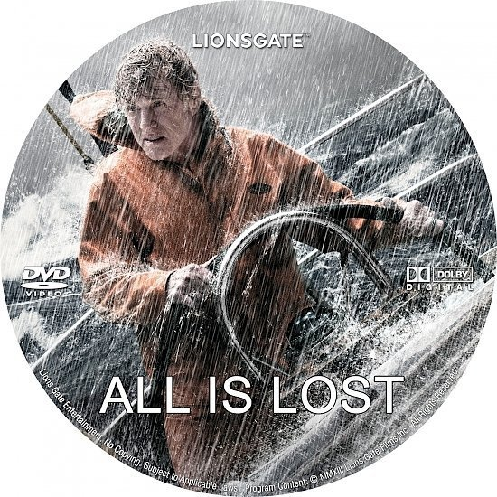 dvd cover All Is Lost R0 Custom