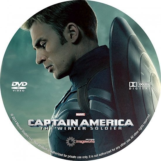dvd cover Captain America: The Winter Soldier R0 Custom