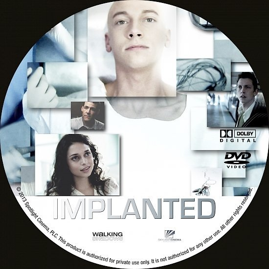 dvd cover Implanted R0 Custom