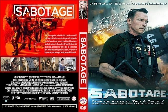 dvd cover Sabotage