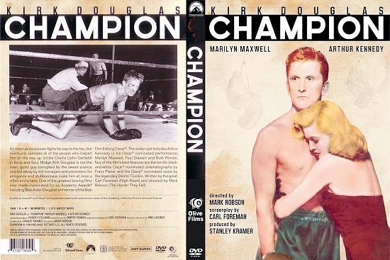 dvd cover Champion (1949) R1
