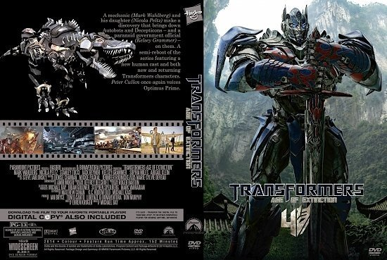 dvd cover Transformers: Age of Extinction R0 Custom