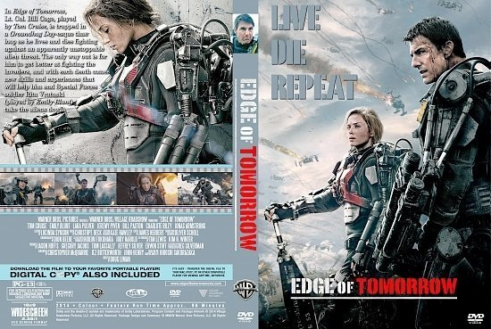 dvd cover Edge of Tomorrow R0 Custom