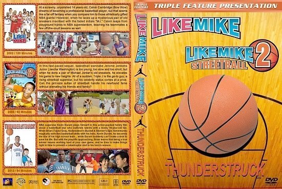 dvd cover Like Mike / Like Mike 2 / Thunderstruck Triple