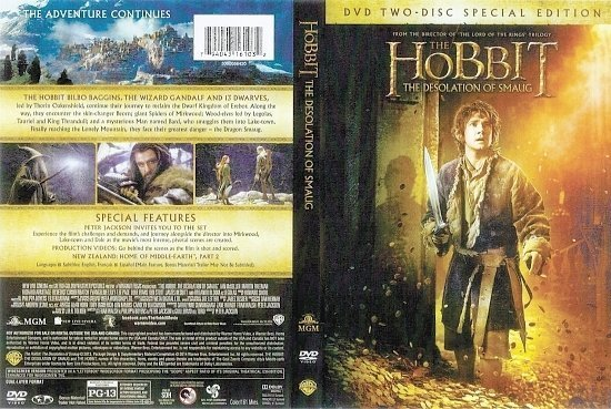 dvd cover The Hobbit: The Desolation Of Smaug R1