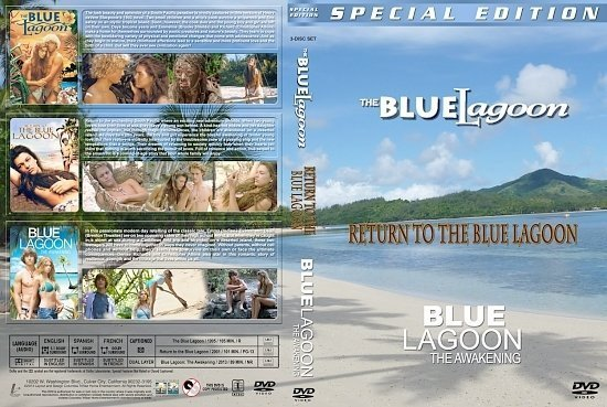 dvd cover Blue Lagoon Triple Feature