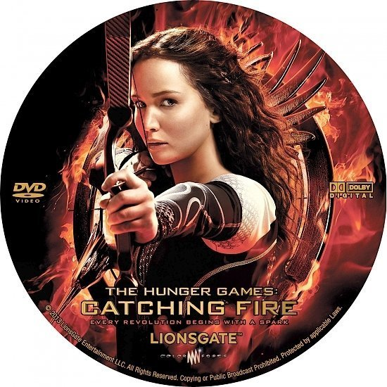dvd cover The Hunger Games Catching Fire R0 Custom