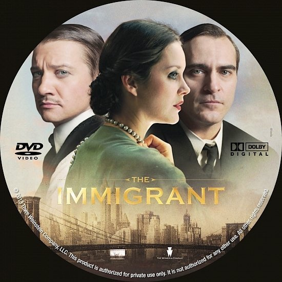 dvd cover The Immigrant R0 Custom