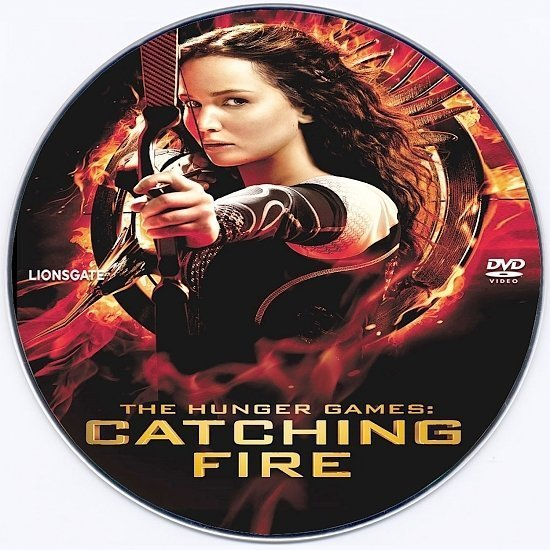 dvd cover The Hunger Games: Catching Fire R0 Custom DVD Label