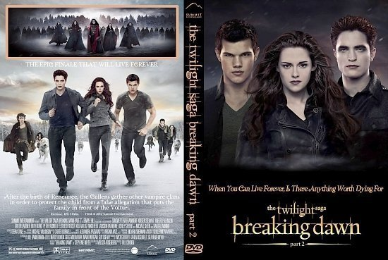 dvd cover Twilight Saga: Breaking Dawn Part 2 V3