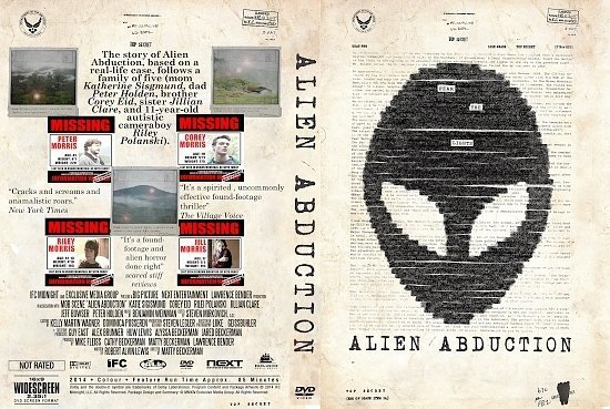 dvd cover Alien Abduction R0 Custom