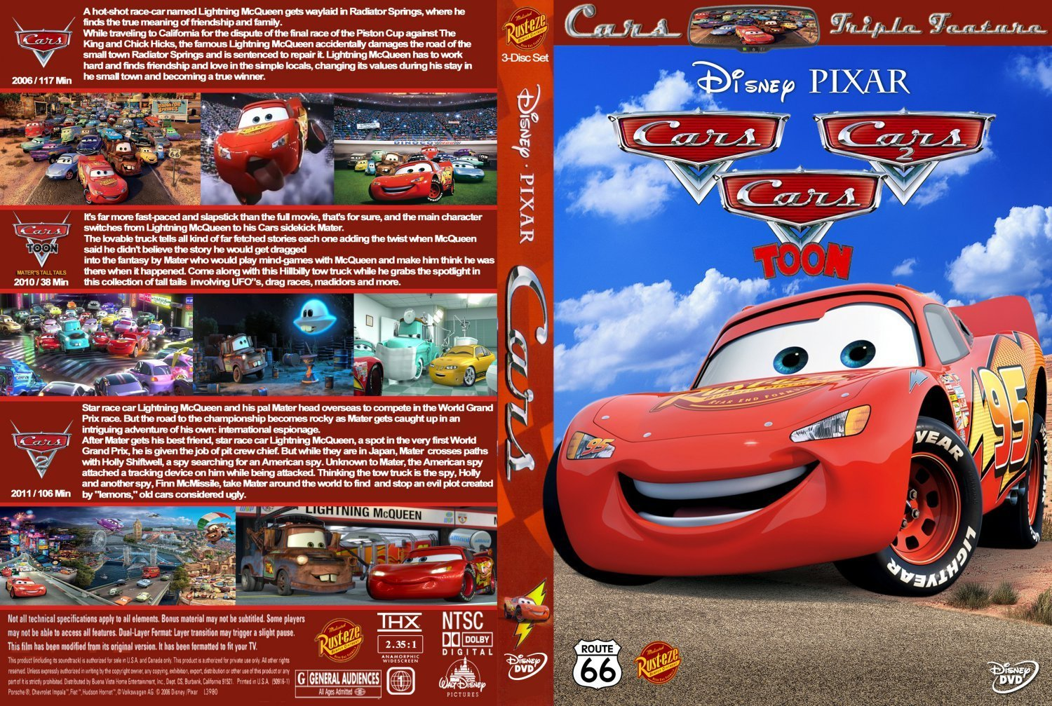 Cars Trilogy Dvd Covers And Labels