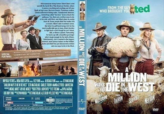 dvd cover A Million Ways To Die In The West R1 CUSTOM