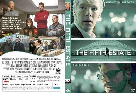 dvd cover The Fifth Estate R1 CUSTOM
