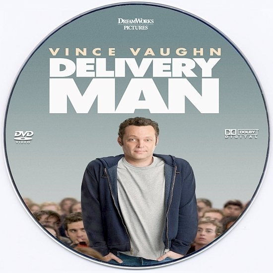 dvd cover Delivery Man Custom DVD Label