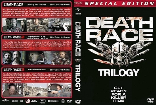 dvd cover Death Race Trilogy