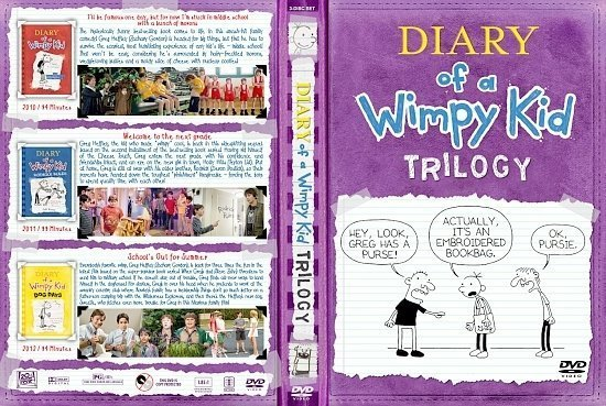 dvd cover Diary Of A Wimpy Kid Trilogy