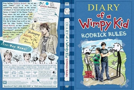 dvd cover Diary Of A Wimpy Kid Rodrick Rules