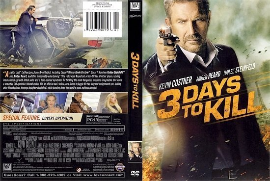 dvd cover 3 Days To Kill R1