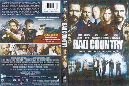 dvd cover Bad Country R1