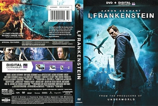 dvd cover I, Frankenstein R1