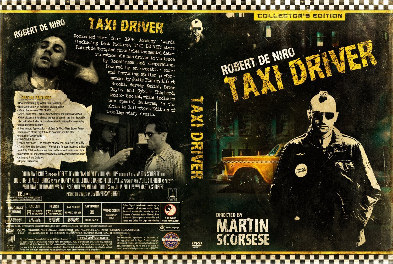 taxi driver dvd covers and labels