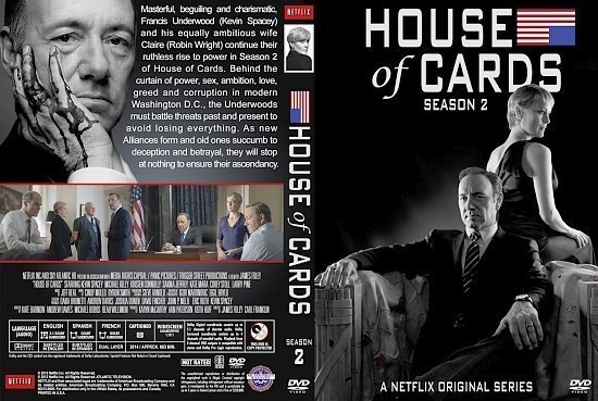 dvd cover House of Cards Season 2
