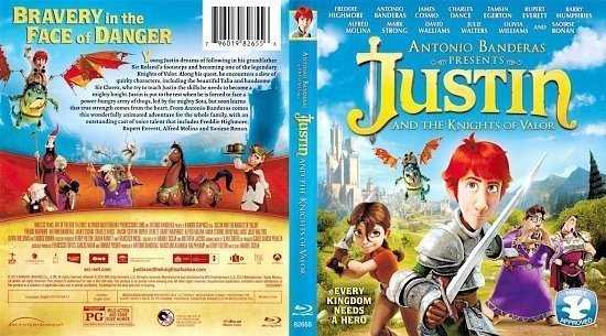 dvd cover Justin And The Knights Of Valour