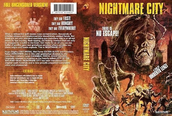 dvd cover Nightmare City