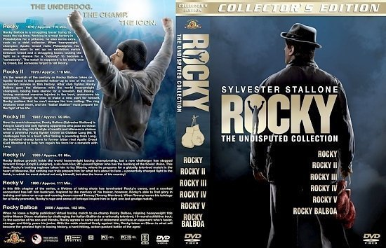 dvd cover Rocky: The Undisputed Collection