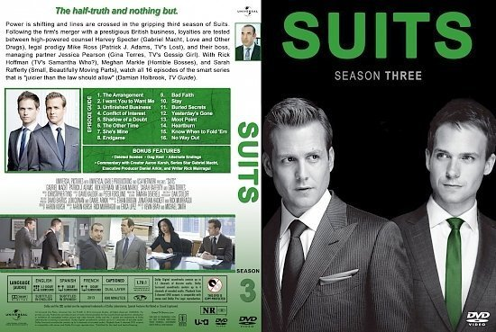 dvd cover Suits Season 3