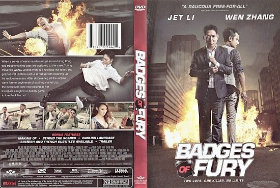 dvd cover Badges Of Fury