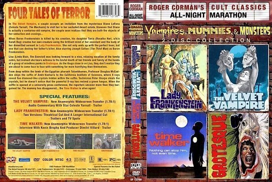 dvd cover Vampires, Mummies & Monsters Collection