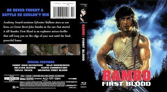 dvd cover Rambo: First Blood