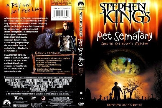 dvd cover Pet Sematary