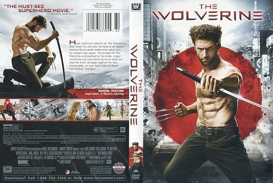 dvd cover The Wolverine