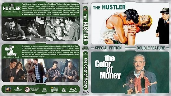 dvd cover The Hustler / The Color of Money Double