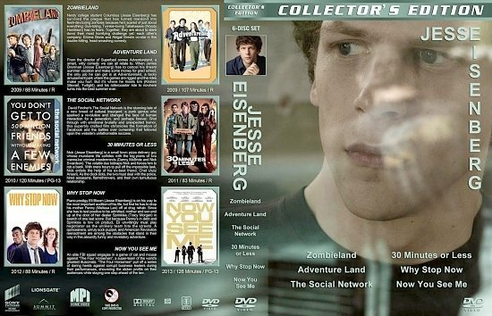 dvd cover Jesse Eisenberg Collection