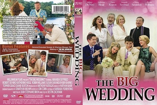 dvd cover The Big Wedding