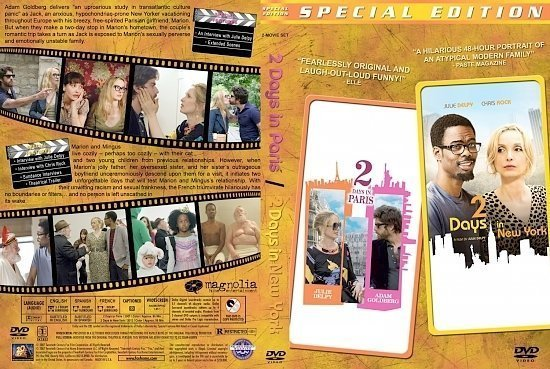 dvd cover 2 Days Paris:NY