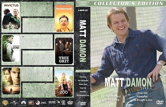 dvd cover Matt Damon Collection Set 3