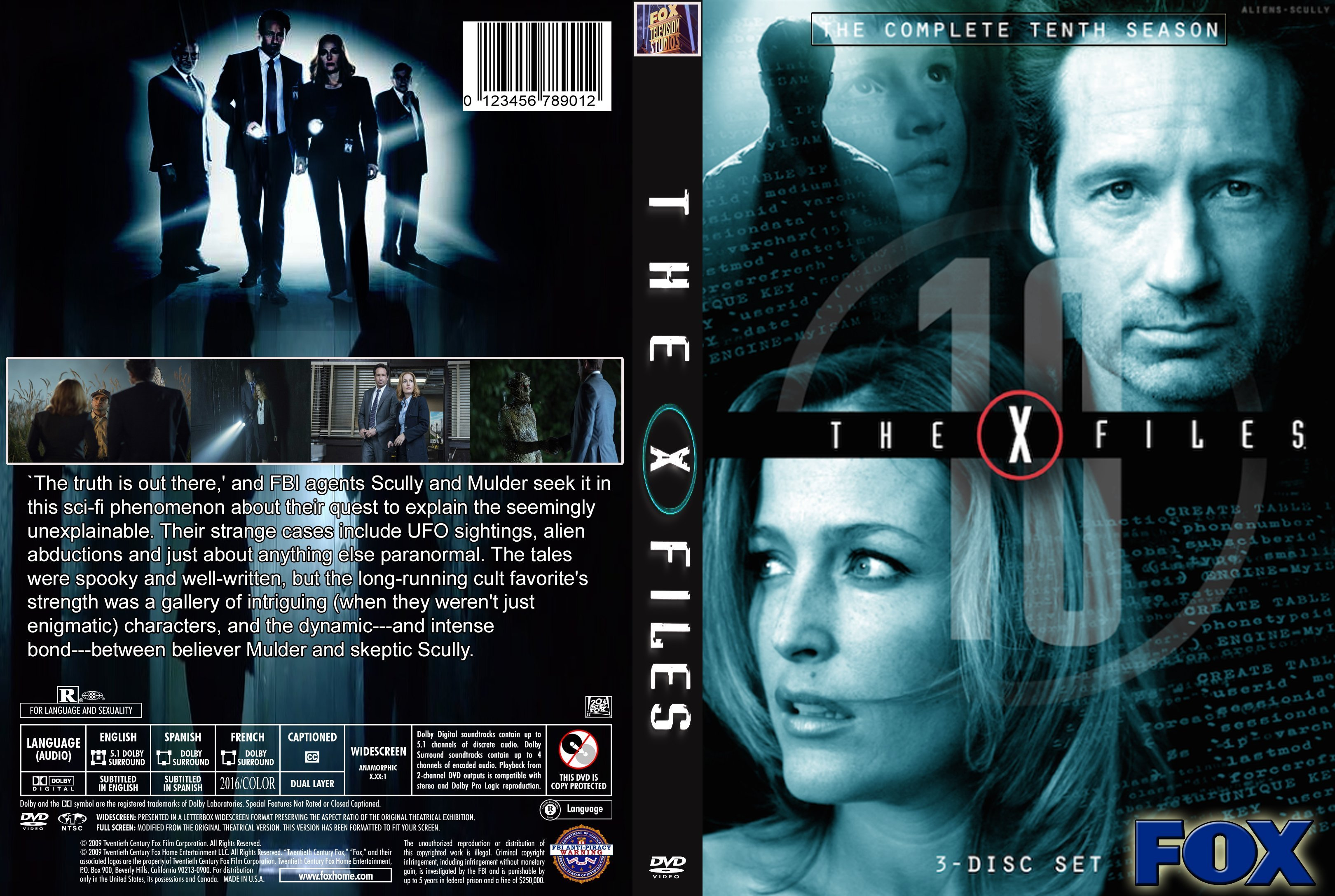 The x-files: season 1-2-3-4-5-6-7-8-9 dvd front covers dvd covers and labels