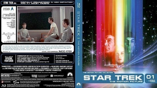 dvd cover Star Trek 01 The Motion Picture