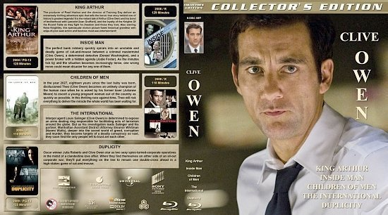 dvd cover Clive Owen Collection