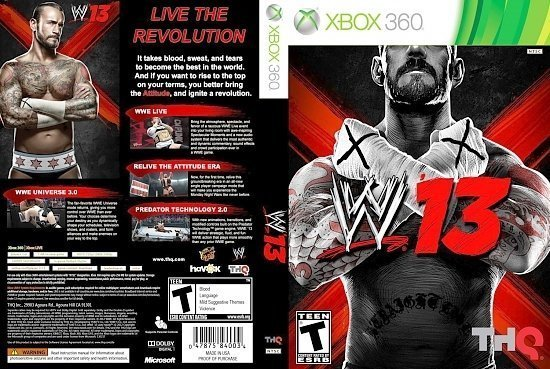 dvd cover WWE 13