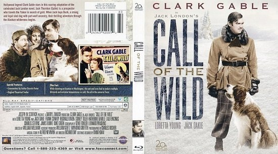 dvd cover Call Of The Wild BR