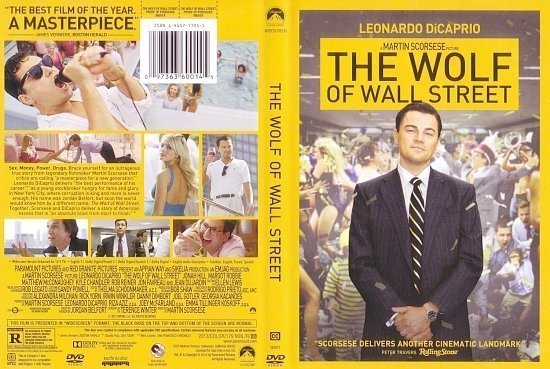 dvd cover The Wolf Of Wall Street Scanned